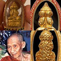 LP Kasem Chok Phra Pidta 2535. Only made 108 pcs and extremely rare Amulets, Lp, Buddha, Crown, Jewelry, Corona, Jewlery, Jewerly, Schmuck