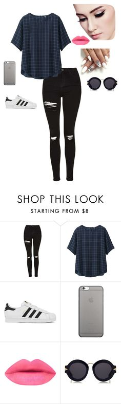 """""""Untitled #37"""" by lysndrsp on Polyvore featuring Topshop, Uniqlo, adidas, Native Union and Karen Walker"""