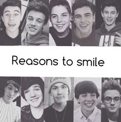 Reason to smile: Nash, Cam, Matt, Gilinsky, Shawn, Taylor, Aaron, Carter, HAYES and Johnson