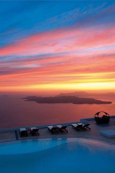 Santorini, Imerovigli colours