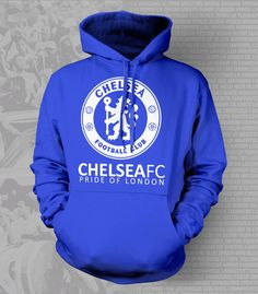Show your passion and stay warm with this beautiful Chelsea FC Hoody/Sweatshirt. - Gildan Heavy Blend - Classic Fit Hooded Sweatshirt - 50% Cotton / 50% Polyester - Air Jet Yarn = Softer Feel and redu