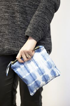 The perfect sized pouch + the dye pattern is a great way to make a statement.