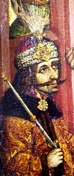 Vlad Dracula Ţepeş as Pontius Pilate judging Jesus Christ, detail.