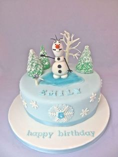 Olaf Frozen Cake Some really cute Frozen cake designs