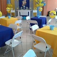 I like the minion colored tables
