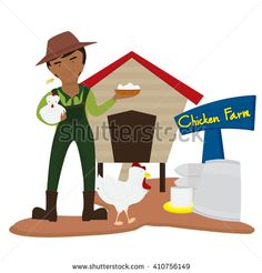 chicken farm  Image ID:410756149 Copyright: xtremelife animal, animals, art, background, basket, cartoon, character, chicken, design, diagram, eeg, egg, eggs, farm, farmer, farming, feed, food, hat, hen, house, icon, illustration, isolated, kichen, kitchen, label, line, logo, man, nature, pig, poultry, vector, wheat, white