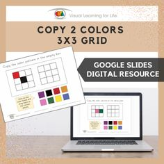 This digitally interactive resource is designed for use with Google Slides. This resource contains 20 slides in total. Files are available with both American English and British English spelling.The student must copy the colour/color pattern to the open box by dragging the colour/color swatches to the correct places.