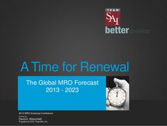 A time for Renewal:Global MRO Forecast 2023