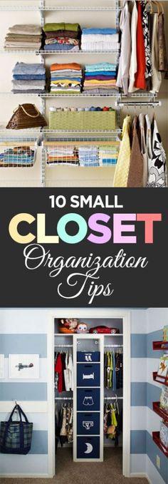 10 Small Closet Organization Tips - Organization Junkie