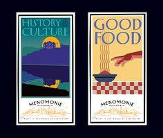 Menomonie poster left David Brier in Poster Design