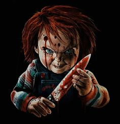 Every kit gives you a chance to create a work of art you can be proud of. This diamond painting kit Horror Movie Characters, Horror Movies, Chucky Movies, Horror Artwork, Horror Pictures, Horror Icons, Arte Horror, Freddy Krueger, Drawing Skills