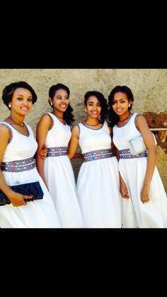Ethiopian Traditional Dress, African Traditional Wedding, Traditional Dresses, Ethiopian Beauty, Ethiopian Dress, Tribal Fashion, Women's Fashion, Hijab Fashion, African Inspired Fashion