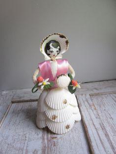 Vintage Seashell Doll by momentofnostalgia on Etsy