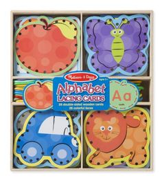 Melissa & Doug Alphabet Lacing Cards, 2015 Amazon Top Rated Early Childhood Education Materials #Toy