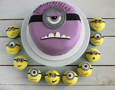 Minion Cake and Cupcakes - Evil and Good Minions