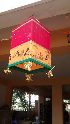 Handmade lantern for diwali.....