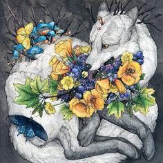 "frrmsd: Artist: Lauren Marx ""Demeter"" Pencil,...   chasingthegreenfaerie Kunst Inspo, Art Inspo, Art And Illustration, Illustrations, Fantasy Kunst, Fantasy Art, Autumn Inspiration, Dark Art, Watercolor Paper"