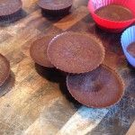 healthy, yummy, EASY peanut butter cups.  Only five ingredients and 15 minutes needed to make these!