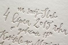 detail / letterpress by HELLO calligraphy / Pan Bon Ton