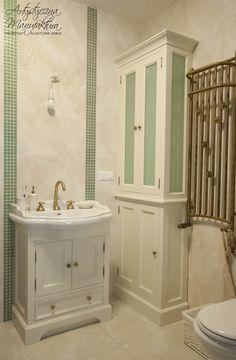 stylowy komplet do małej łazienki, bathroom vanity set, bathroom wooden furniture, classic furniture - wykonanie|by Artystyczna Manufaktura