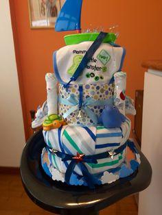 Sailor boy diaper cake