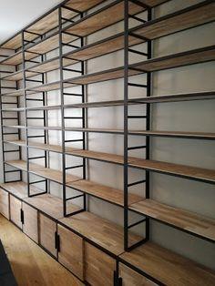 Shop Shelving, Wall Shelves Design, Metal Shelves, Supermarket Design, Retail Store Design, Metal Furniture, Diy Furniture, Furniture Design, Regal Industrial