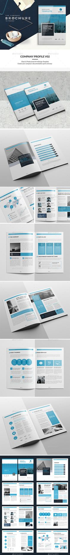 Company Profile V2 - #Corporate #Brochures Download here: https://graphicriver.net/item/company-profile-v2/19357378?ref=alena994