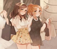 Hetalia Nyotalia N and S Italy Sisters///// they're so pretty!!! ❤