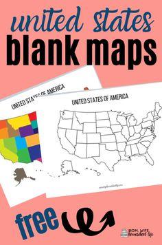 Homeschool Activities, Free Homeschool Printables, United States Map, Us Geography, Homeschool Printables, Social Studies Elementary, Homeschool History, History Education, Homeschool Geography