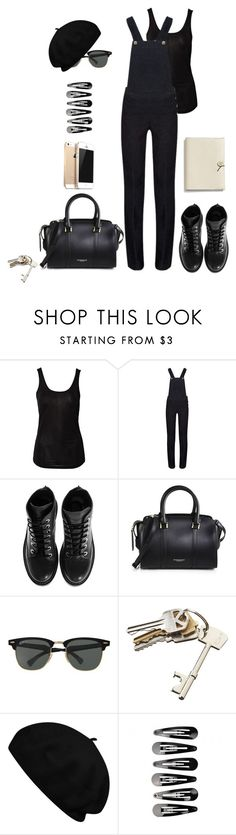 """""""Salopette style.."""" by alessya92 ❤ liked on Polyvore featuring Sally&Circle, Kenzo, Burberry, Ray-Ban, CB2, Betmar and Coach"""