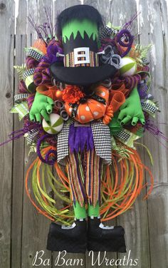 Frankenstein Wreath by Ba Bam Wreaths