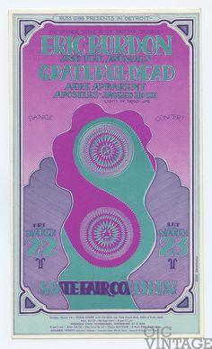 1968 Mar 22 Postcard Grateful Dead AOR 3.136