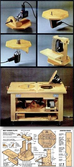 Power Tool Table - Workshop Solutions Projects, Tips and Tricks - Woodwork, Woodworking, Woodworking Plans, Woodworking Projects Woodworking Power Tools, Woodworking Jigs, Carpentry, Woodworking Projects, Woodworking Ornaments, Intarsia Woodworking, Woodworking Furniture, Woodworking Horse, Woodworking Organization