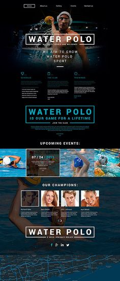 Waterpolo Club #website #template. #themes #business #responsive #websitethemes