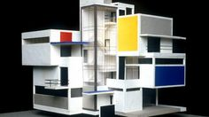 Theo van Doesburg, Model Artist House, 1923 – Atlas of Interiors Architecture Concept Drawings, Facade Architecture, Piet Mondrian, Architect Design House, House Design, Bauhaus, Schroder House, Theo Van Doesburg, Basic Design Principles