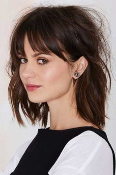 long messy bob with fringe - Google Search