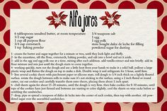 Recipe for Alfajores. Cookies from Argentina.