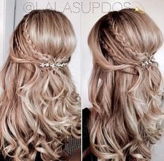 Teased Half Up Style for Bridesmaids