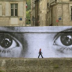 Urban street art. Reminiscent of The Great Gatsby eyes
