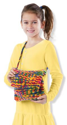 Lion Brand Yarn has over free knitting and crochet patterns of various colors, sizes and project types. Melissa & Doug, Lion Brand Yarn, Loom Weaving, Free Knitting, Free Pattern, Knit Crochet, Crochet Necklace, Crochet Patterns, Crafts