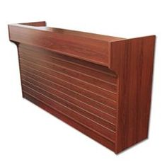 6' Ledgetop Counter with Slatwall Front : [Cherry]