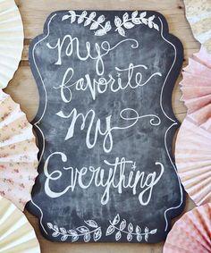 Bracket #Wedding Chalkboard #zulilyfinds