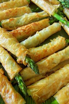 Asparagus phyllo appetizer
