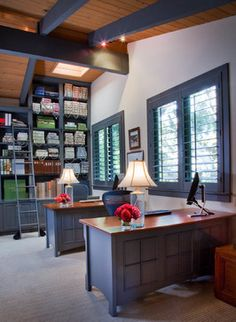 Transitional Home Office Design Ideas, Pictures, Remodel and Decor