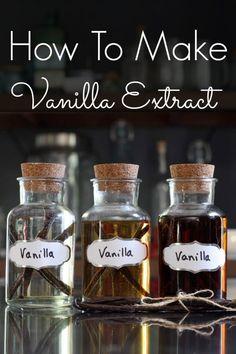 How To Make Vanilla Bean Extract