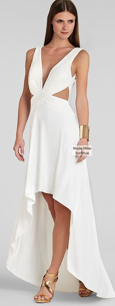 BCBG MAX AZRIA Gown - Anastasia Cutout High/Low.. What @chestein is wearing to her dental school formal