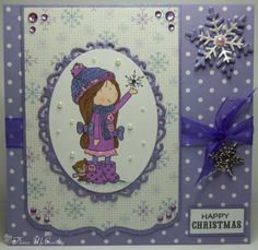 For this card I have used some of the lovely crafty goodies that I got with a voucher that my hubby and daughter gave me for my b. Snowflake Cards, Snowflakes, Daydream, Handmade Cards, Cardmaking, Card Ideas, Give It To Me, Crafty, Google Search