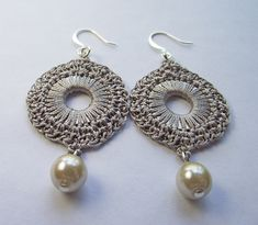 Ravelry: Silk Crochet Circular Washer Earrings pattern by Julia Tellier