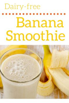 Delicious, dairy-free banana smoothie