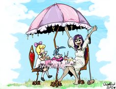 Teatime with Lilli, Harvey and Edna by Wuselig on DeviantArt Tea Time, Gaming, Alice, High Tea, Videogames, Game